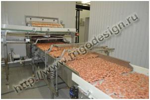 Оборудование для шоковая заморозки креветок от Фригодизайн