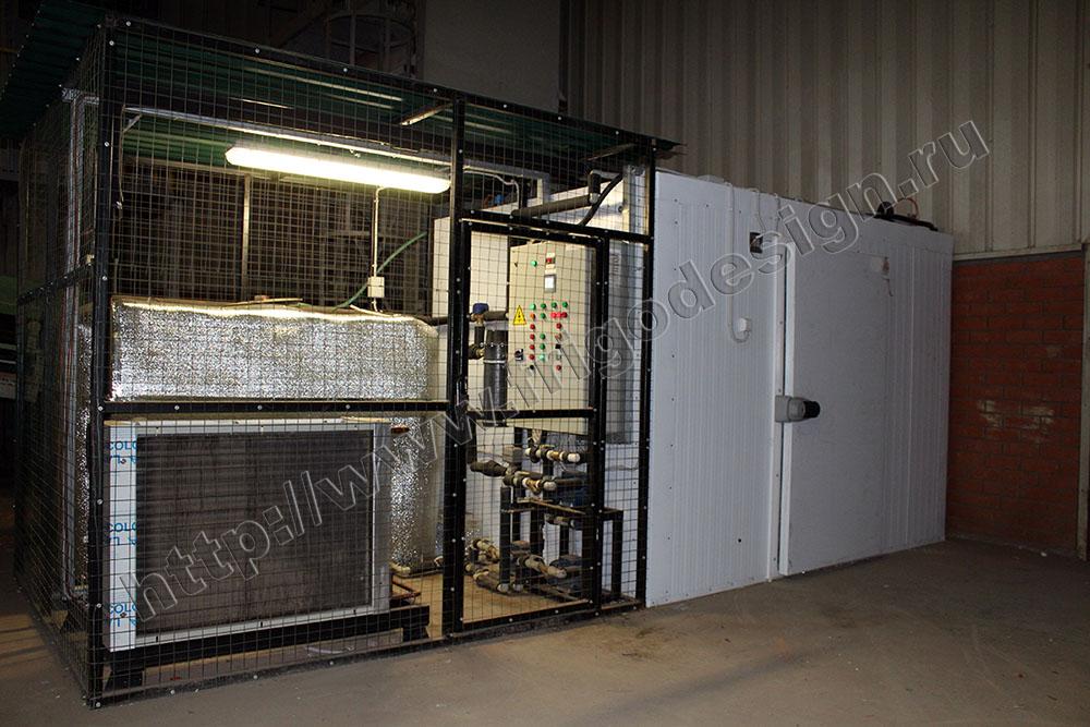 Климатическая камера для проведения автоматизированных испытаний керамических блоков на морозостойкость