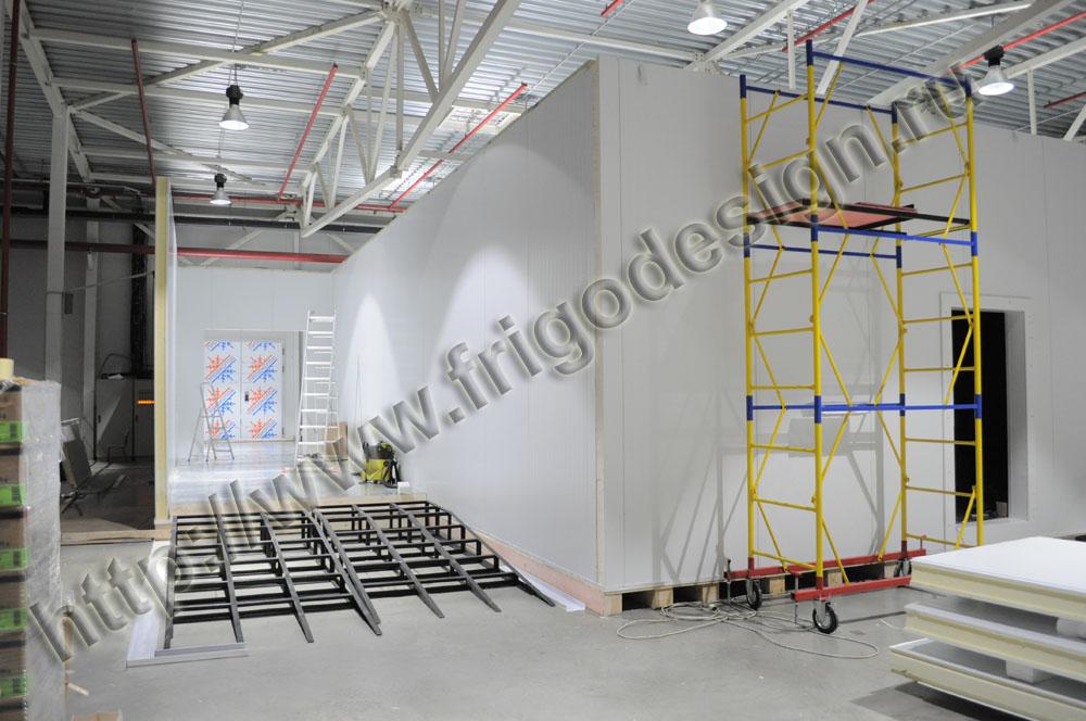 Строительство крупнотоннажных низкотемпературных камер с системой подогрева полов с вентилируемым подпольем