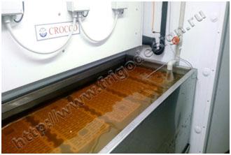 Оттаивание керамических блоков в водяной ванне после заморозки