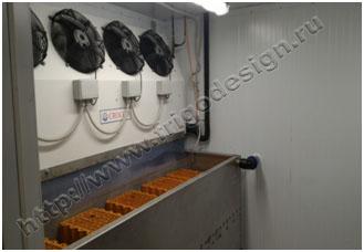 Заморозка керамических блоков в рабочем объеме испытательной камеры
